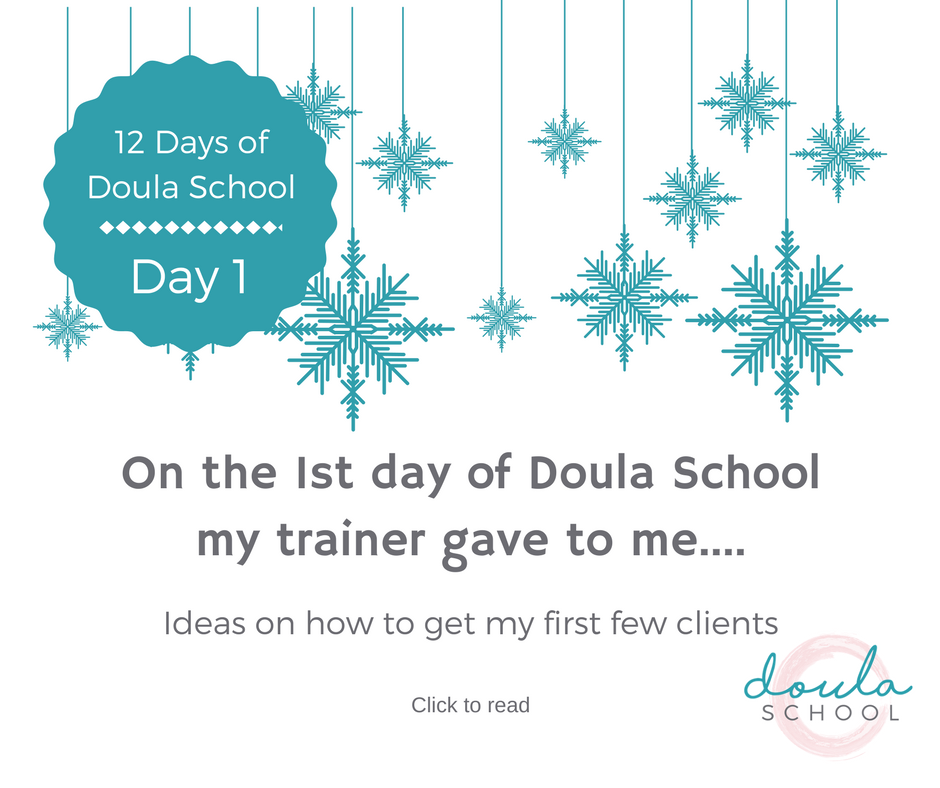 Getting our first doula clients